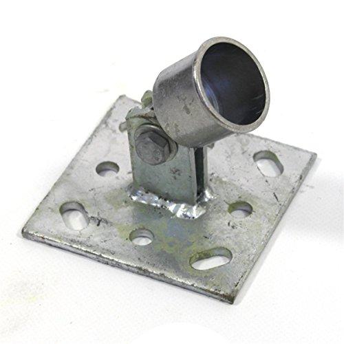 Estexo Home & Garden Strebenplatte Ø 34 mm für Bodenhülse Einschlaghülse Zaunpfosten Zaunstreben