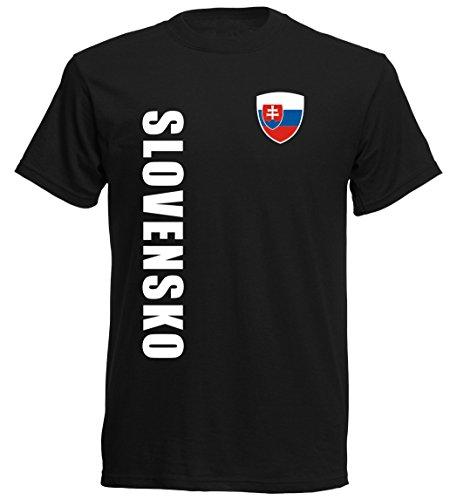 Slowakei EM 2016 T-Shirt Trikot - S M L XL XXL - schwarz 10 (M)