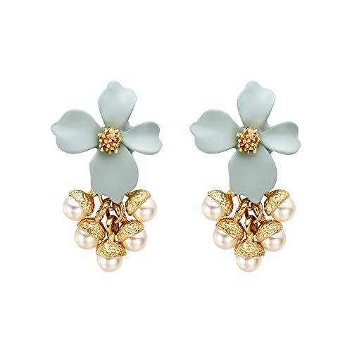 LHWY Ohrringe Damen Blume Ohrringe Wunderschön Dekoriert Blume Ohrringe Elegant Party Ohrstecker Weiblich Freundin/Mutter
