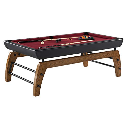 Hall of Games Edgewood 84' Billiard Table, Burgundy/Black...