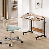 maxVitalis mobiler Laptoptisch Schreibtisch Computertisch Pflegetisch höhenverstellbar mit Rollen, Tischplatte neigbar, Multifunktionaler Beistelltisch für Bett Sofa Couch, Laptopständer