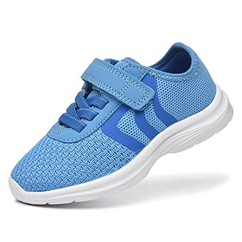 JIUMUJIPU Unisex-Child Toddler Shoes Sneakers - Black/White Little Kid Shoe/Gray Boys Running Shoes/Pink Girls Walking Shoe (Blue/Dark blue/White-0101-2, Numeric_7)