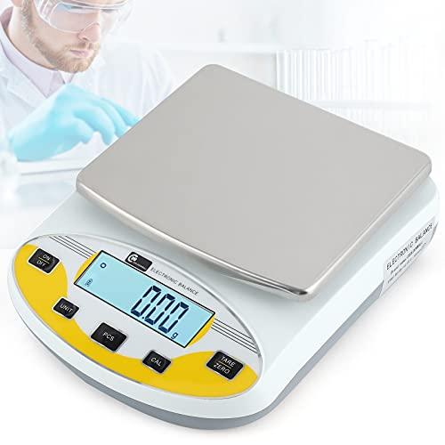 CGOLDENWALL Balances Numériques de Précision 0.01g Lab Analytical Balance Électronique Balance de Bijoux Balance de Pesée pour la Cuisine Calibré et Prêt à Lire(5000g,0.01g, pas de poids)