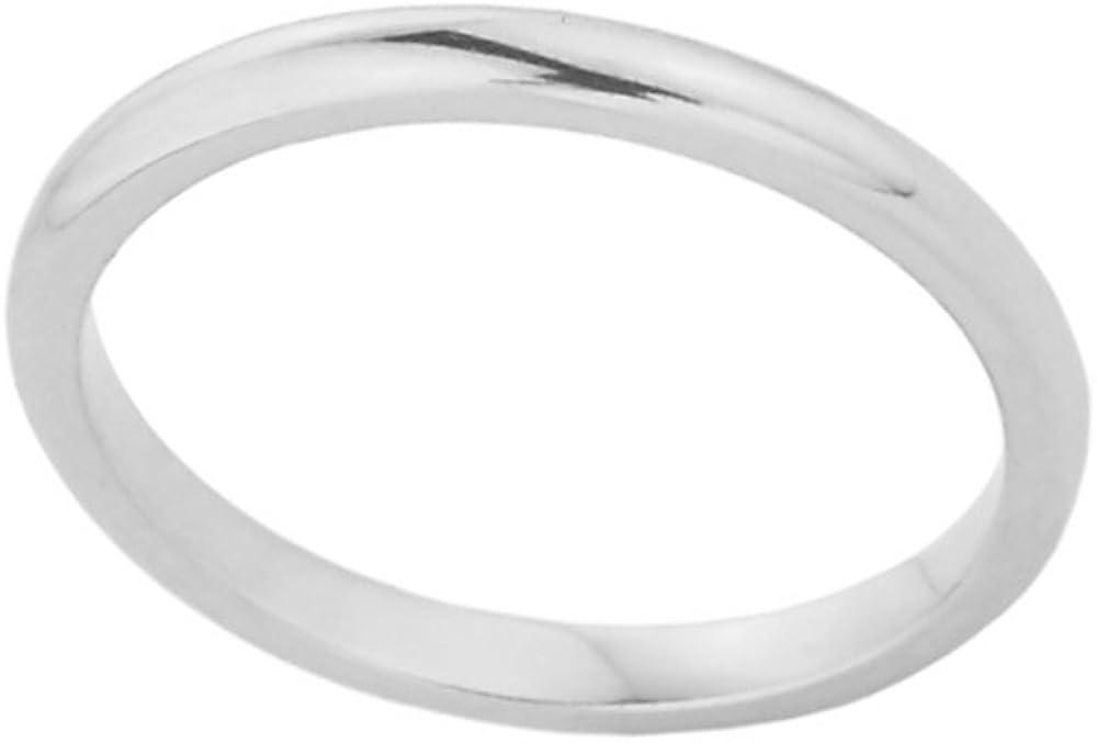Stacking 14k White Gold Sizable Plain Toe Ring