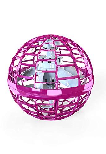 2020 Verbesserter Bumerang-Spinne, fliegenden Ball mit endlosen Tricks für Kinder und Erwachsene, Indoor-Flugspielzeug 360 rotierenden leuchtenden LED-Lichtern für Indoor Outdoor Geschenke (Rosa)