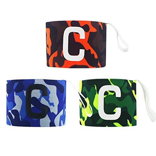 cjixnji Fußball Captain Armband,Camouflage Fußball Elastic Armband,Klettverschluss für verstellbare Größe, geeignet für mehrere Sportarten wie Fußball & Rugby, grün (6 Stück) (3)