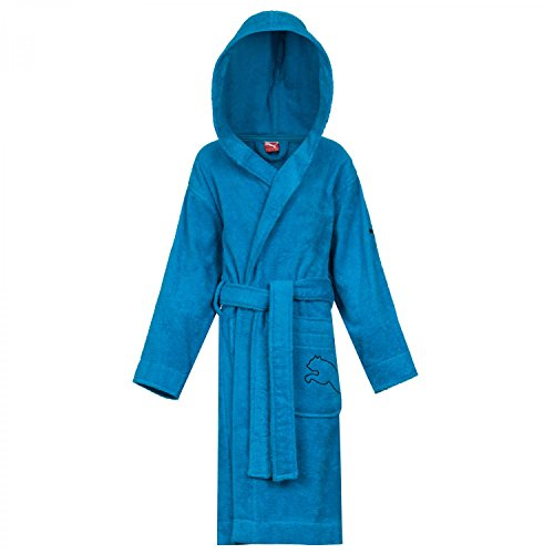 PUMA Kinder Bademantel Kids Foundation Bathrobe, Methyl Blue, 104