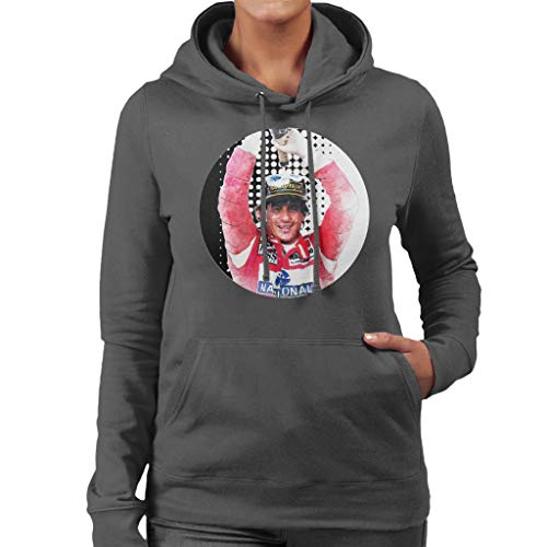 Motorsport Images Ayrton Senna Champagne Pop Art Women's Hooded Sweatshirt