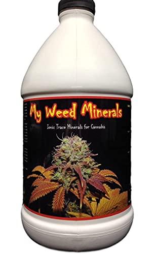 Eco Organics My Weed Minerals Ionic Trace Micro Nutrients for Growing Marijuana. ½ Gallon (64oz) Concentrate Nutrients for Growing Cannabis Plants. (1)