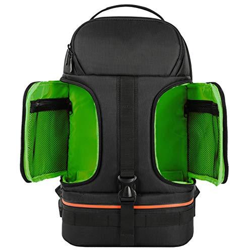 Angle-w スタイリッシュなデザイン、シンプルな旅行, レインコートビデオカメラバックパック三脚ケースw  リフレクターストライプフィット15.6インポートパソコンバッグ写真 さらに進んでみましょう (Color : Green, Size : A)
