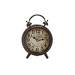 Deco 79 Metal Table Clock 9 H, 6 W-52507, 9 x 6