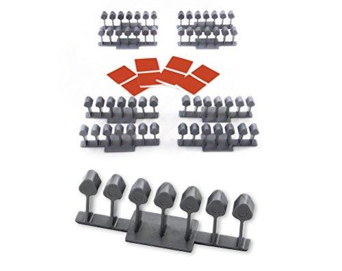 Selbstklebende Halter, Kabelrechen, Kabelführung, Kabelkanal und Werkzeughalter, ideal für Büro, Werkstatt, Garage, Garten (8 St.)