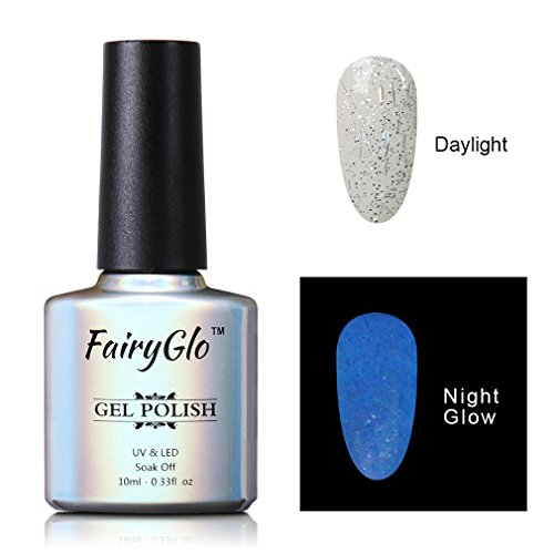 FairyGlo Night Glow Gel Nail Polish UV LED Soak Off Dramatic Gel Nail Art Party Carnival 10ml 6724