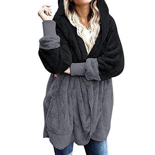 Femmes fermeture éclair poches blazer veste femme ceinture cape cardigan tops fausse fourrure manteau