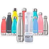 moon botellas - Botella de Agua de Acero Inoxidable, Botella Termica sin BPA -...