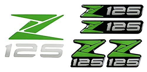 BIKE-label 910083 - Pegatina con logotipo 3D para Kawasaki Z125, color verde