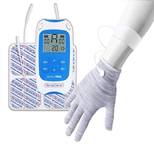 TensCare Perfect Tens+ Guantes Conductores- para el dolor de manos y la Artritis, Mejora el flujo Sanguíneo que Aumenta la Circulación