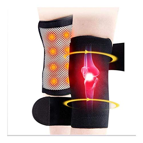 RJDL 1 Paar Einstellbare Osteoarthritis Kniestütze, Turmalin Magnetische Selbst Heizung Knieschützer Warm atmungsaktiv Knie-Gamaschen-Therapie 917