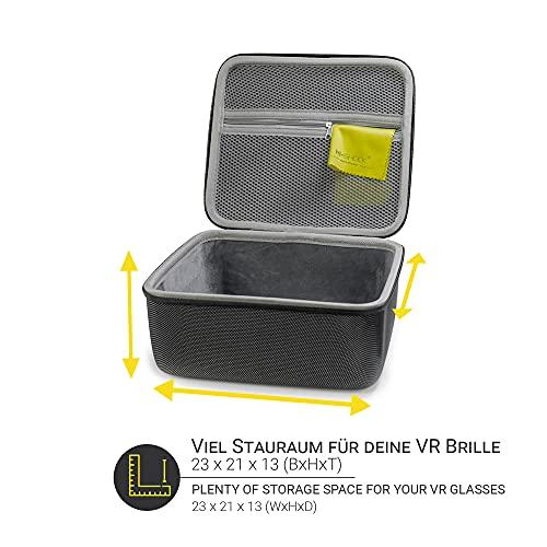 Hi-SHOCK VR Tasche - Hardcase für VR-Brille - Passend für Oculus Quest, Quest 2, Gear VR, Oculus Go, Google Daydream - Tragetasche - Etui für Virtual Reality Headset und 3D Brille - VR Zubehör