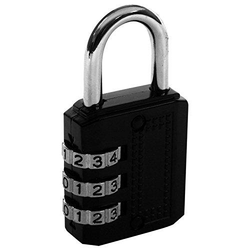 Gesh Candado de combinación de 3 dígitos de dial, para portátil, caja de herramientas, maleta de viaje