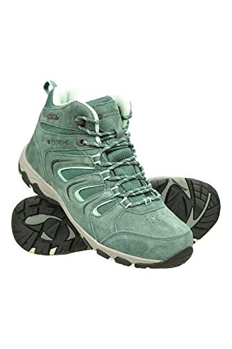 Mountain Warehouse Chaussures de randonnée Aspect pour Femme - Robustes, imperméables - Semelle rembourrée, Dessus en synthétique, Doublure en Maille - Camping, Voyages Vert 40