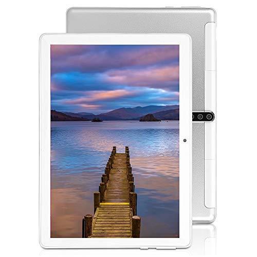 10-Zoll-Android-Tablet-PC, 5G-WLAN, Octa-Core-Prozessor, Android 9.0, 4 GB RAM + 64 ROM, 1280 x 800 IPS-HD-Display, Bluetooth, GPS, 5000-mAh-Akku, UV5 (Silber)
