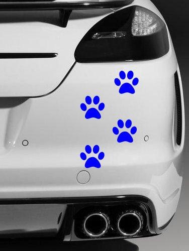 4 pegatinas de vinilo de calidad para coche, 4 unidades, color azul