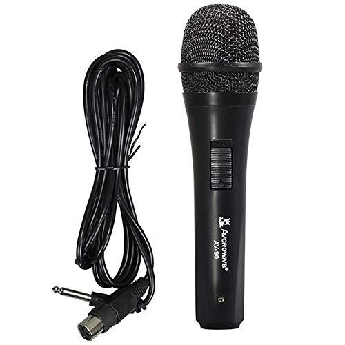 Music Life Micrófono Dinámico Profesional Portátil para Altavoz Karaoke Cantar con Cable 3m Jack 6.3mm