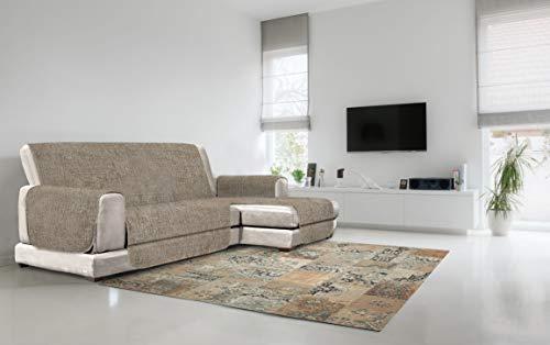Italian Bed Linen Copridivano Antiscivolo Comfort con Penisola DX, Marrone, 190 cm