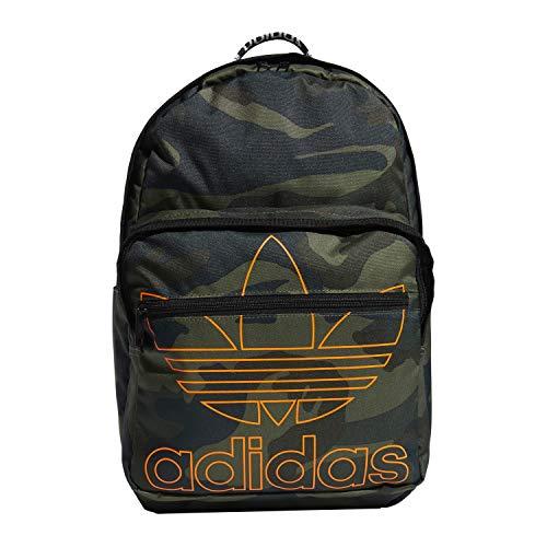 adidas Originals Mochila unisex 977701 Trefoil de bolsillo, Unisex, 977701, Adi Camo/Signal Naranja, Talla única