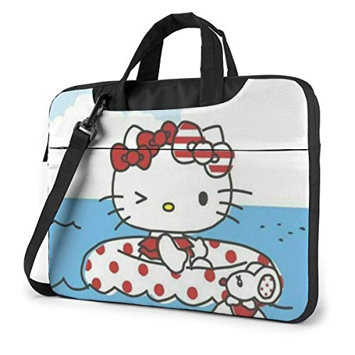 XCNGG Swimming Kitty Laptop Bag Business Briefcase for Men Women, Shoulder Messenger Laptop Sleeve Case Carrying Bag- 15.6 Inch