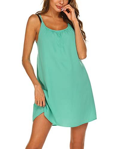 Balancora Bikini Cover up Strandkleid Damen Strandponcho Pareos Chiffon Loose Fit Sexy Kleid Transparent Strand Sommer Tunika Lang