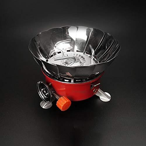 Guoc Mini cuisinière à Cassette,réchaud extérieur Coupe-Vent pour Voiture Autonome Portable,équipement de Camping,cuisinière à gaz,cuisinière extérieure,Flamme féroce,Réchaud de Camping Pliable