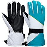 Anqier Winter Gloves for Men Women Waterproof Ski Gloves Thermal Gloves 3M Thinsulate Snow Snowboard...