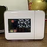 Vtops Orologio Elettronico con Schermo LED Display Led Orologio Da Parete Proiezione Stazione Meteo Termometro Temperatura Umidità Monitor dor Persone