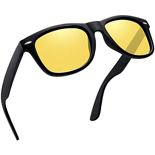 Joopin Gafas Visión Nocturna para Hombre y Mujer Gafas de Sol Polarizadas Deportivas Gafas de Conducción Nocturna Protección 100% UV400 Retro Clásicos