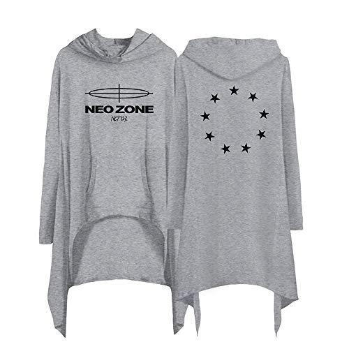 Landove NCT 127 Neo Zone Hoodie Jurk Lange Mouwen Dames Asymmetrisch