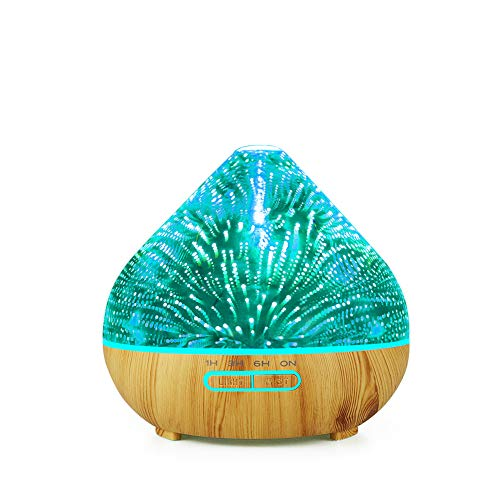 SETSCZY Aroma Diffuser Ultraschall Luftbefeuchter Diffusor Duftlampen Aromatherapie Humidifier für ätherische öle Raumbefeuchter für Kinderzimmer Schlafzimmer Raum Büro Yoga Spa,Gelb