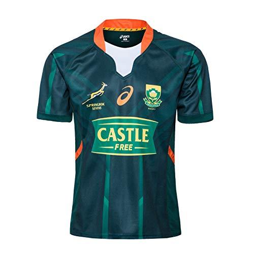 2020 Südafrika Springbok 7S WM-Weltmeisterschaft Rugby-Trikots, Baumwoll-Jersey-Grafik-T-Shirt, Zuhause- Und Auswärts Wettbewerb Training Football Jersey, Geschenk F Home-S