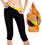 AFUT Damen Sweat Sauna Neoprene Hot Capri Pants Body Shapers Slimming Gym Leggings Body Shapers Anti-Cellulite Shorts Thermo Fitness Weight Loss Yoga Sports Körperformung Hosen