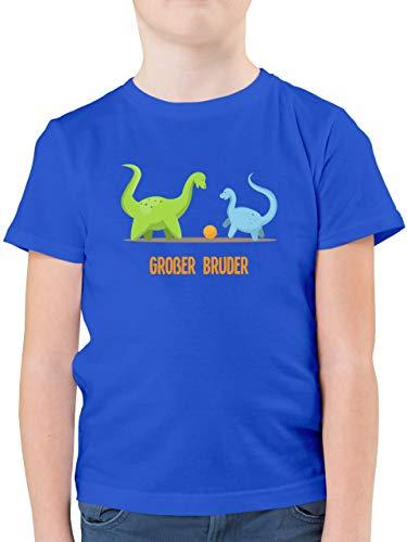 Geschwisterliebe Kind - Großer Bruder Dinosaurier - 152 (12/13 Jahre) - Royalblau - gro er Bruder Kleiner Bruder - F130K - Kinder Tshirts und T-Shirt für Jungen