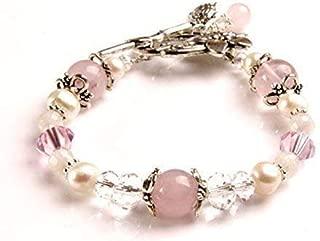 Luna Love Fertility and Pregnancy Bracelet Featuring Natural Gemstones Rose Quartz, Moonstone, Crystal Healing Jewelry