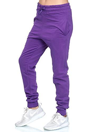 L.gonline dames joggingbroek Uni Colour Design 586, trainingsbroek 100% katoen, van S tot 3XL