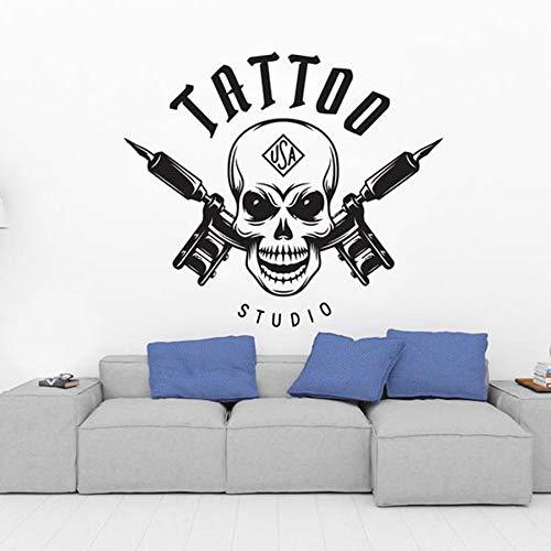Estudio de tatuajes, calcomanía de vinilo para pared, tatuaje decorativo, herramienta de señalización, pegatina de pared, pegatina de pared, estudio de tatuajes, pegatina para tienda de tinta 86x74cm