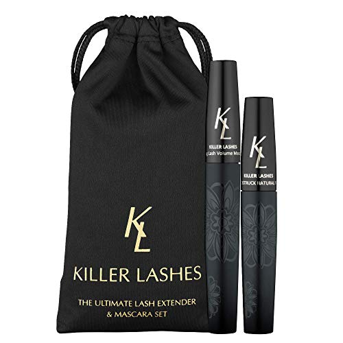 KL Killer Lashes Ultimate Fibre Lash Extender and Mascara (9 ml- und 6 ml-Set) 3D MoonStruck Black Limited Edition mit Transporttäschchen