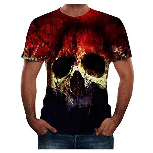 Sylar Camiseta de Manga Corta con Cuello Redondo para Hombre