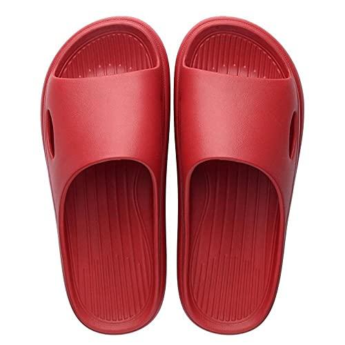 Sandal Womenschanclas Antideslizantes Unisex Zapatillas De Habitación De Verano Zapatos De Decoración Del Hogar Sandalias De Ducha Para Piscina Zapatillas De Baño Ligeras-Red_9