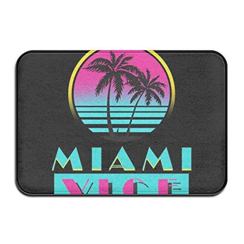 D-M-L Miami Vice Logo Teppichmatte wasserdichte, rutschfeste, waschbare, schnell absorbierende Feuchtigkeit und widerstandsfähige Schmutzteppiche 40X60cm