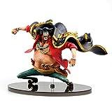 One Pieces Black Beard Marshall D Teach PVC 15Cm, Anime Action Figure Model Collection Toy Desktop Decoration