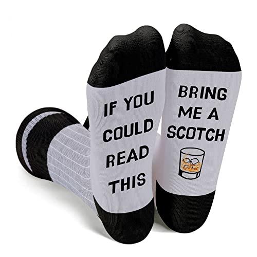 Zmart Scotch Socks Scotch Gifts for Men, Scotch Lover Gifts Scotch Whiskey Gifts